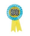 Rozet 50 jaar holografisch geel blauw