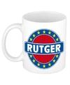 Rutger naam koffie mok beker 300 ml