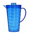 Schenkkan met koelelement van helder blauw plastic