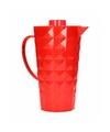 Schenkkan met koelelement van helder rood plastic