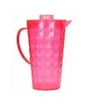 Schenkkan met koelelement van helder roze plastic