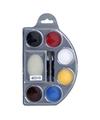 Schminkpalet 6 kleuren met spons en kwastjes