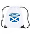 Schotland nylon rugzak wit met schotse vlag