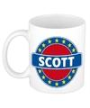 Scott naam koffie mok beker 300 ml