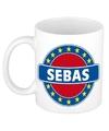 Sebas naam koffie mok beker 300 ml