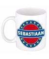 Sebastiaan naam koffie mok beker 300 ml