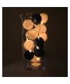 Sfeerverlichting blauwe en witte balletjes in vaas