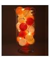 Sfeerverlichting oranje balletjes in vaas