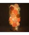 Sfeerverlichting pastel balletjes in vaas
