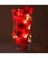 Sfeerverlichting rode hartjes in vaas