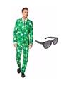 Sint patricks day heren kostuum maat 52 xl met gratis zonnebri