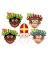 Sinterklaas 4x zwarte pieten sinterklaas maskers setje