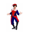 Sinterklaas dames pietenpak rood blauw medium