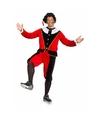 Sinterklaas dames pietenpak rood zwart grote maat