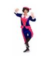 Sinterklaas dames pietenpak roze blauw small