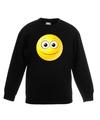 Smiley sweater vrolijk zwart kinderen
