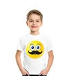 Smiley t shirt snor wit kinderen