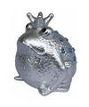 Spaarpot kikker koning zilver 18 cm type 1