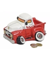 Spaarpot pick up truck rood wit 17 cm