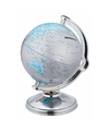 Spaarpot wereldbol zilver 11 cm