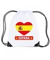 Spanje hart vlag nylon rugzak wit
