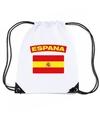 Spanje nylon rugzak wit met spaanse vlag