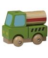 Speelgoed cementwagen hout 9 cm
