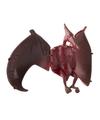 Speelgoed pterodactyl rood bruine dinosaurus 12 cm