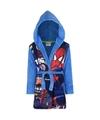 Spiderman fleece badjas blauw voor jongens