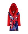 Spiderman fleece badjas rood voor jongens