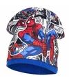 Spiderman fleece muts blauw voor jongens