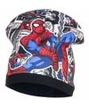 Spiderman fleece muts zwart voor jongens