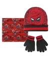 Spiderman winterset rood zwart voor jongens