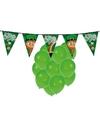 St patricks day feestartikelen met ballonnen en slinger