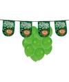 St patricks day versiering met ballonnen en slinger