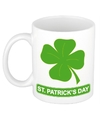 St patricksday klavertje mok beker 300 ml