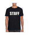 Staff tekst t shirt zwart heren