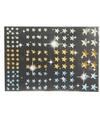 Sterren diamant strass stickertjes groen geel en blauw 120 stuk
