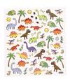 Stickervel dinosaurussen metallic