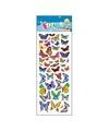 Stickervel gekleurde vlinders