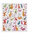 Stickervel katten poezen 15 x 16 5 cm