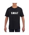 Swat tekst t shirt zwart kinderen