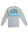 Sweater grijs voor kinderen met flippy de dolfijn
