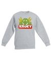 Sweater grijs voor kinderen met kroky de krokodil