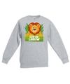 Sweater grijs voor kinderen met leo de leeuw