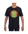 T shirt dinosourus zwart kinderen