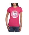 T shirt eenhoorn roze dames