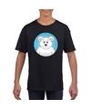 T shirt ijsbeer zwart kinderen