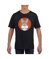 T shirt konijn zwart kinderen
