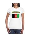 T shirt met afghaanse vlag wit dames